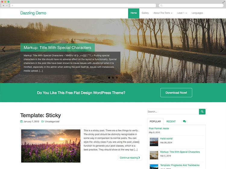Dazzling - Simple Flat Design Business Theme