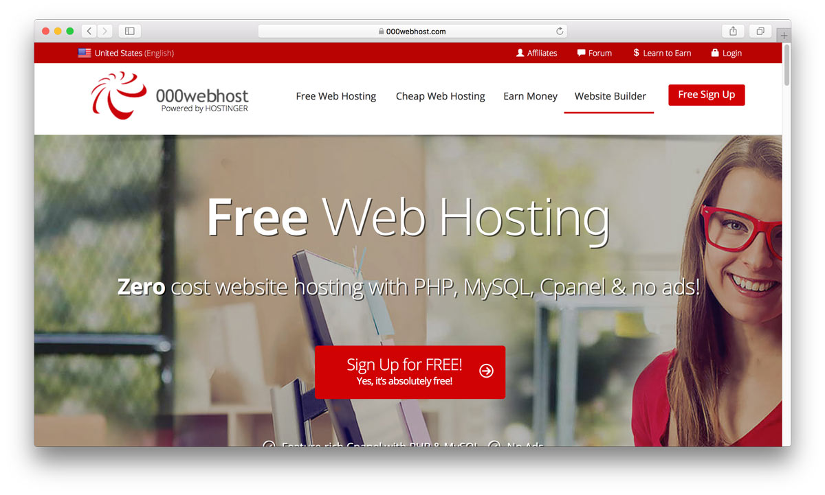 000webhost home page
