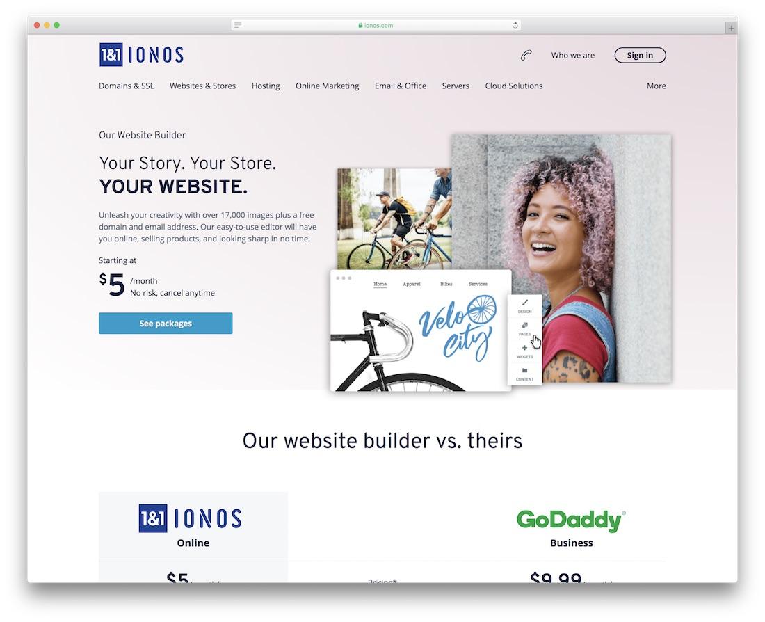 1-1 ionos website builder for mac