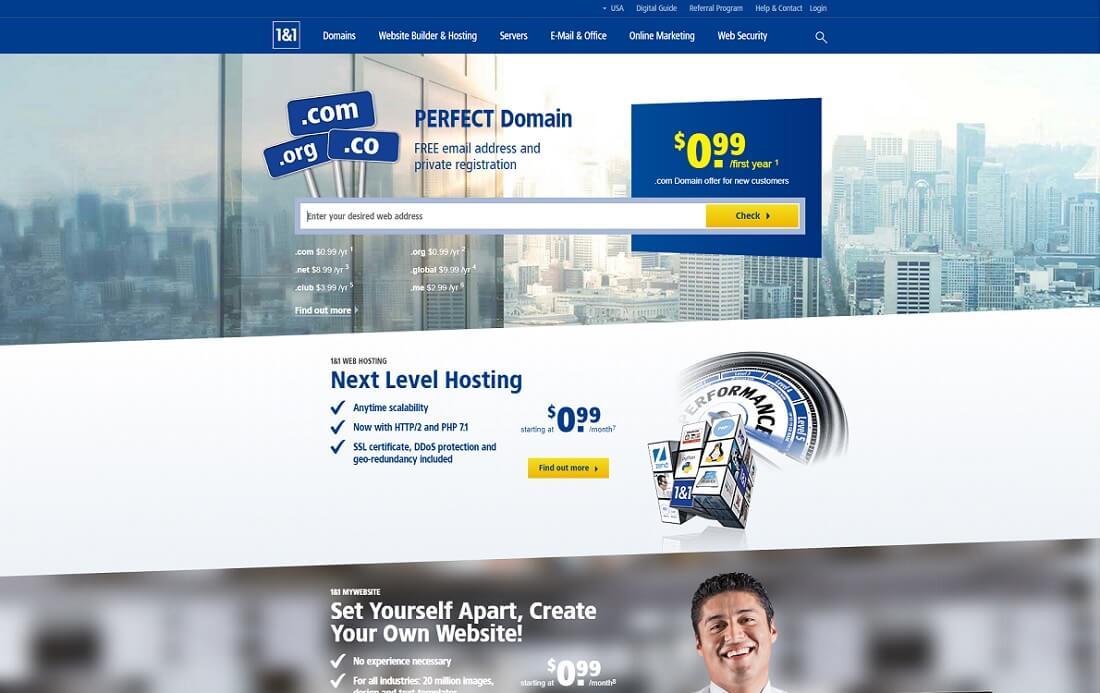 1 & 1 web hosting