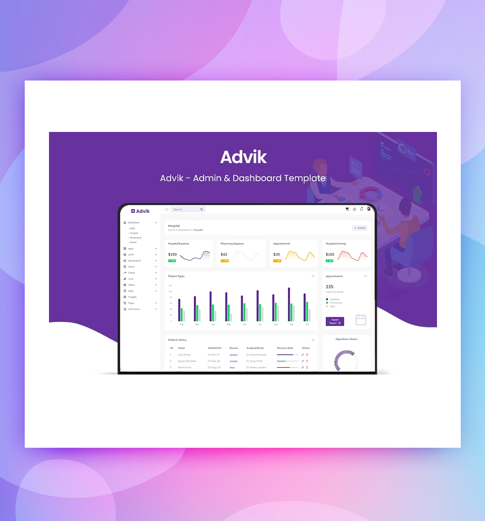 Advik & Dashboard Admin Template