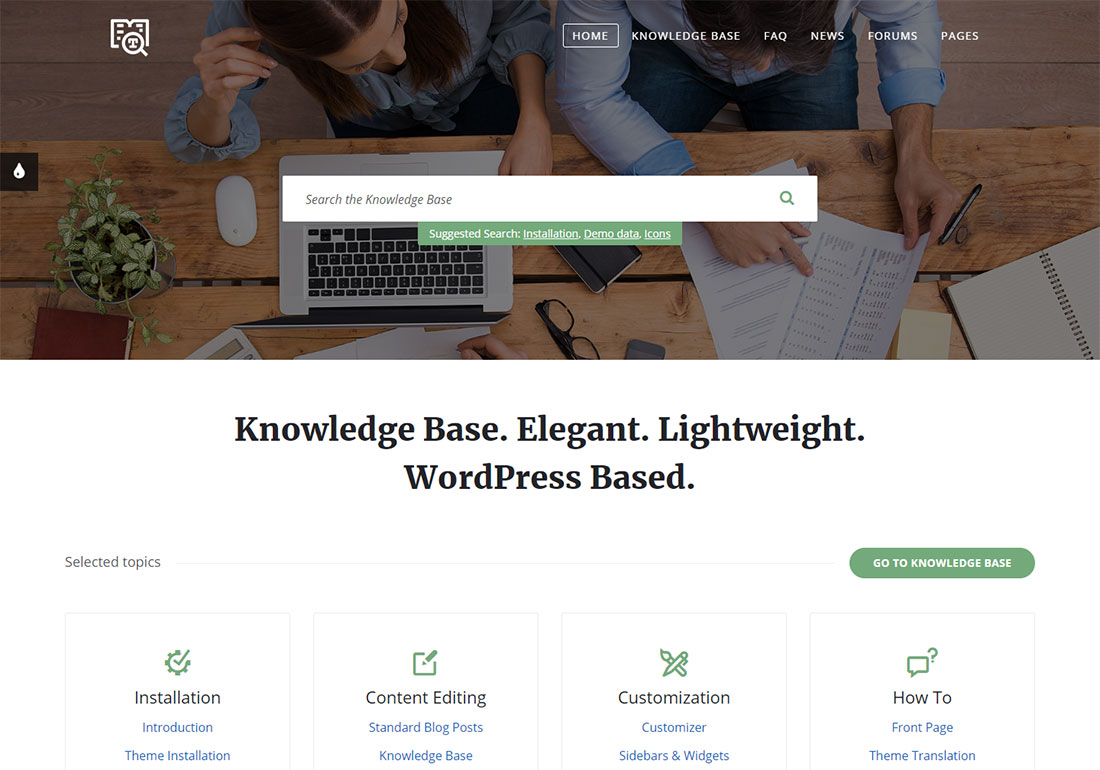 Wikilogy WordPress wiki theme