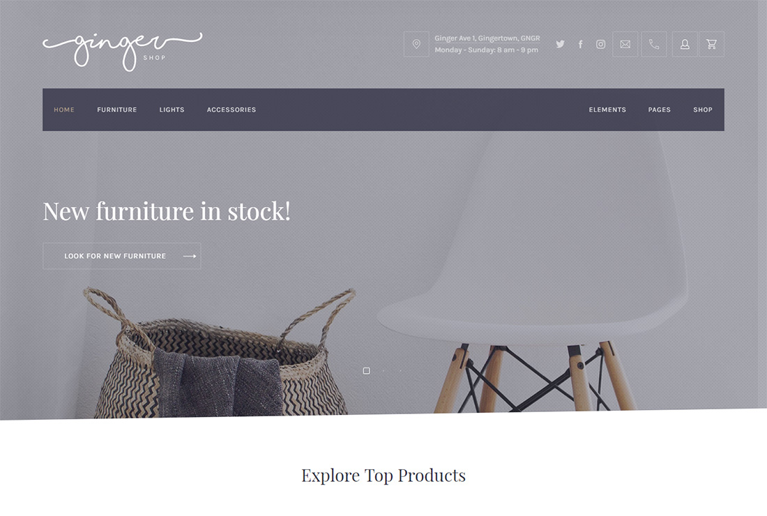 Ginger accessible WordPress theme
