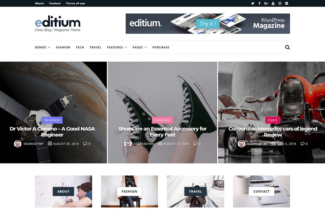 editium cars magazine wordpress themes