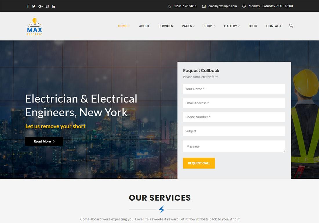 Max Electric - WordPress