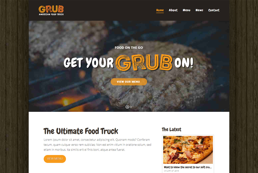 X Food Truck WordPress Theme
