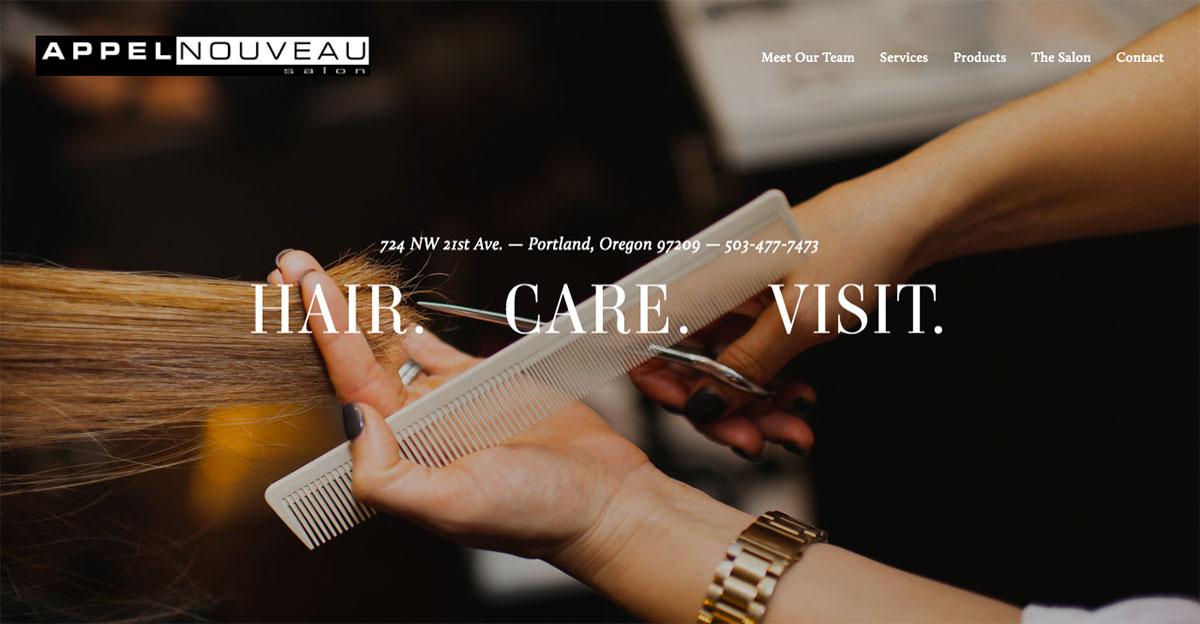 18 Best Hair Salon Websites Design For Awesome Inspiration 2019