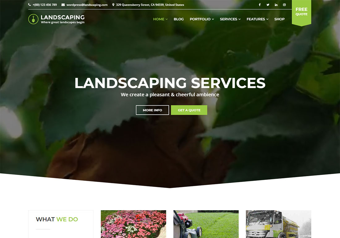 Landscaping WP Landscaping Website Template
