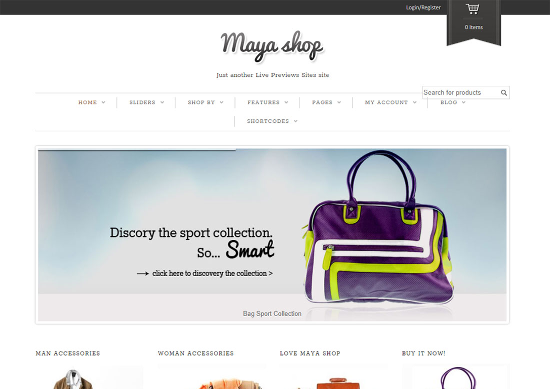 mayashop mobile friendly ecommerce theme