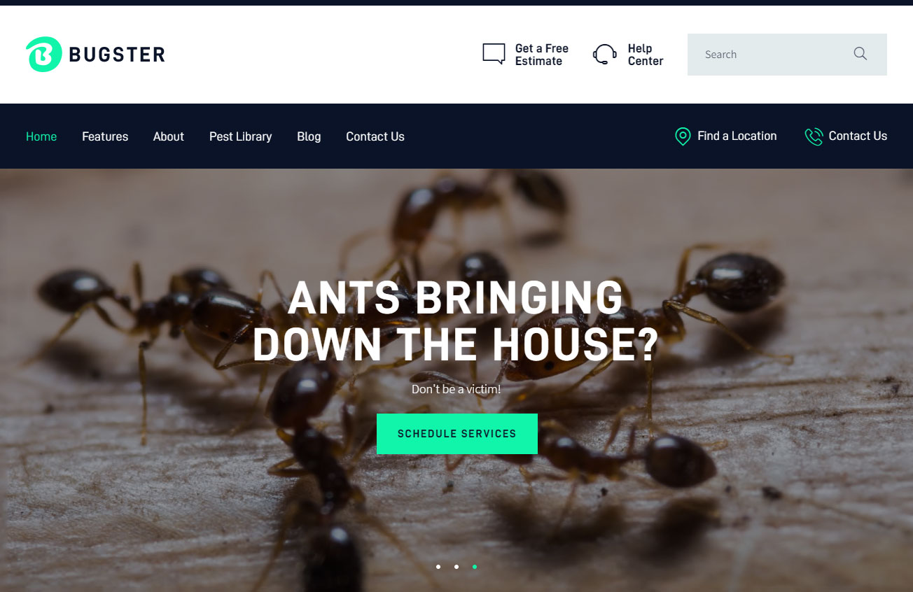 Bugster Pest Control WordPress Theme