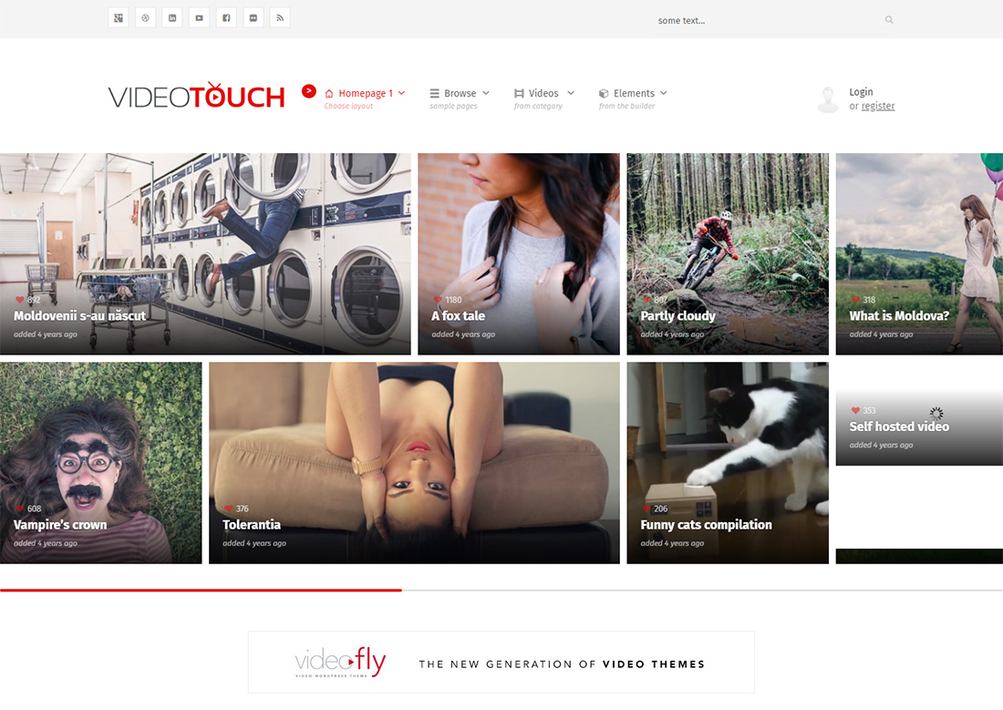videotouch photo sharing WordPress theme