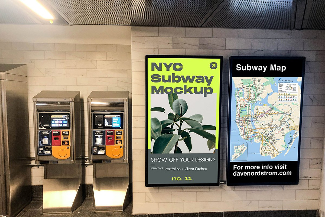12 Free Subway Ad Mockups For Effective Outdoor Advertising 2019