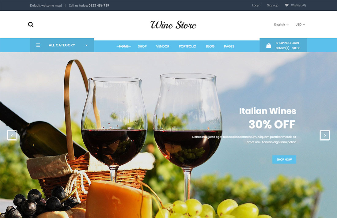 wibar shop WordPress theme