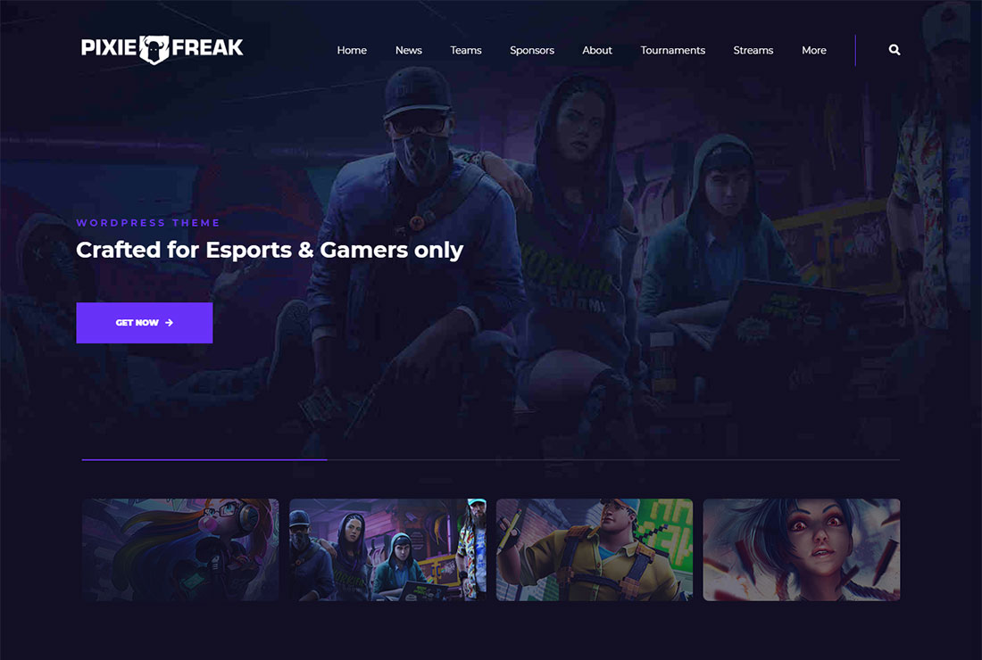PixieFreak WordPress Live Streaming Theme