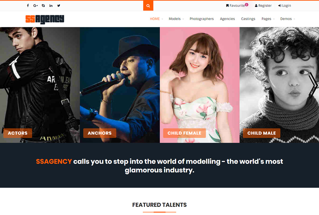 Ssagency WordPress themes for actors