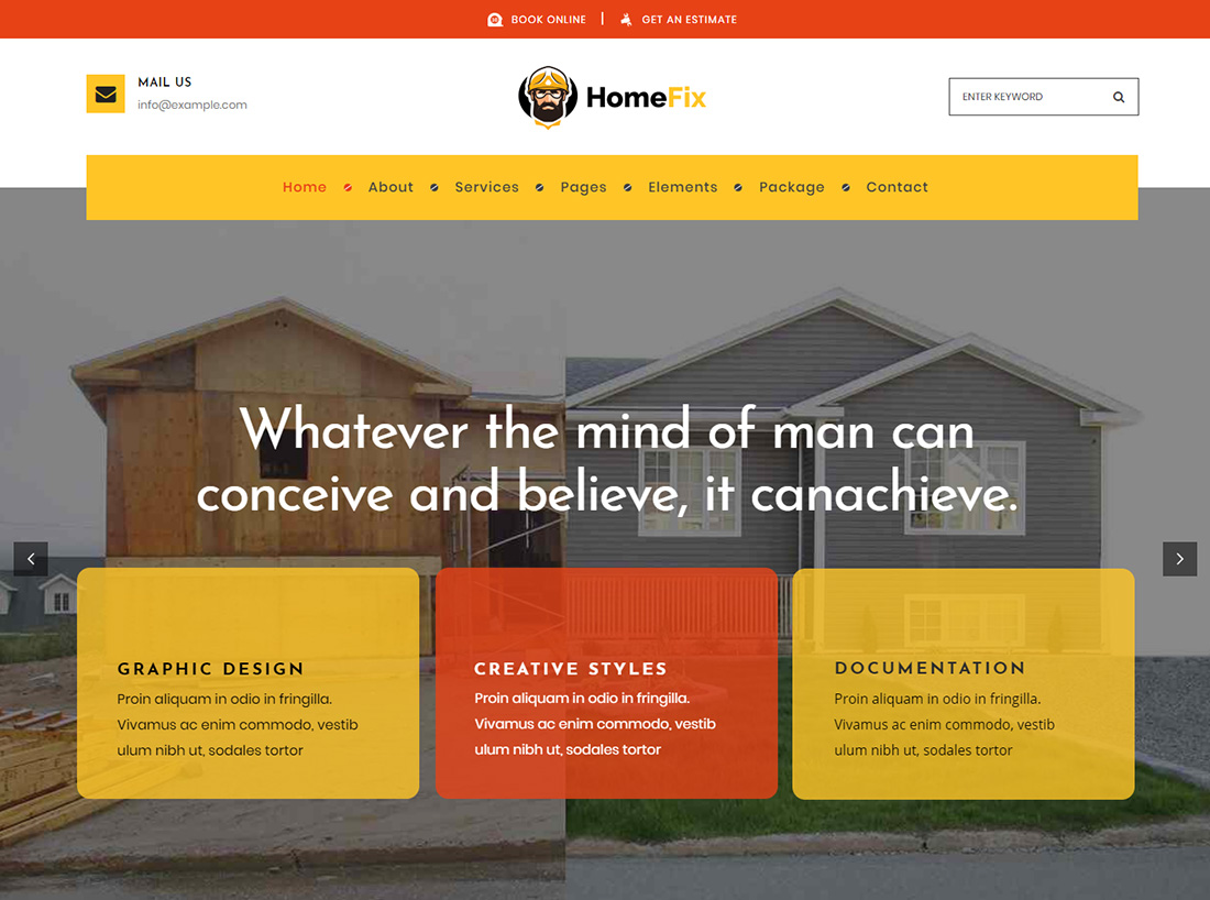 HomeFix WordPress Themes for Painters