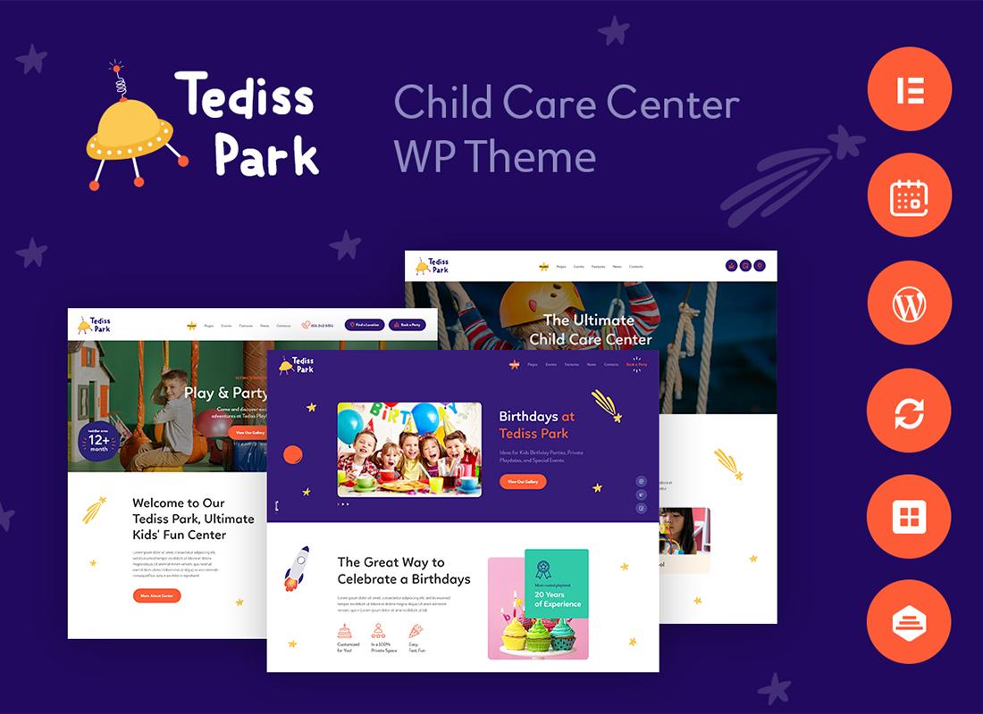 Tediss   Play Area & Child Care Center WordPress Theme