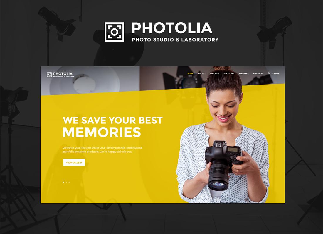 Photolia | Photo Company & Photo Supply Store WordPress Theme