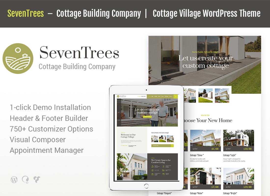 SevenTrees | Real Estate WordPress Theme