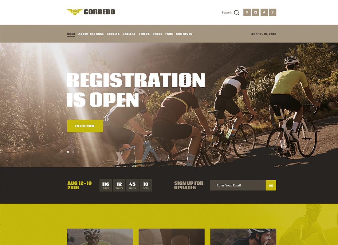 Corredo   Bike Race & Sports Events WordPress Theme