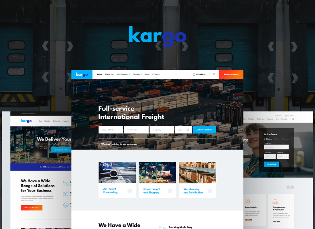 Kargo | Logistics & Transportation WordPress Theme