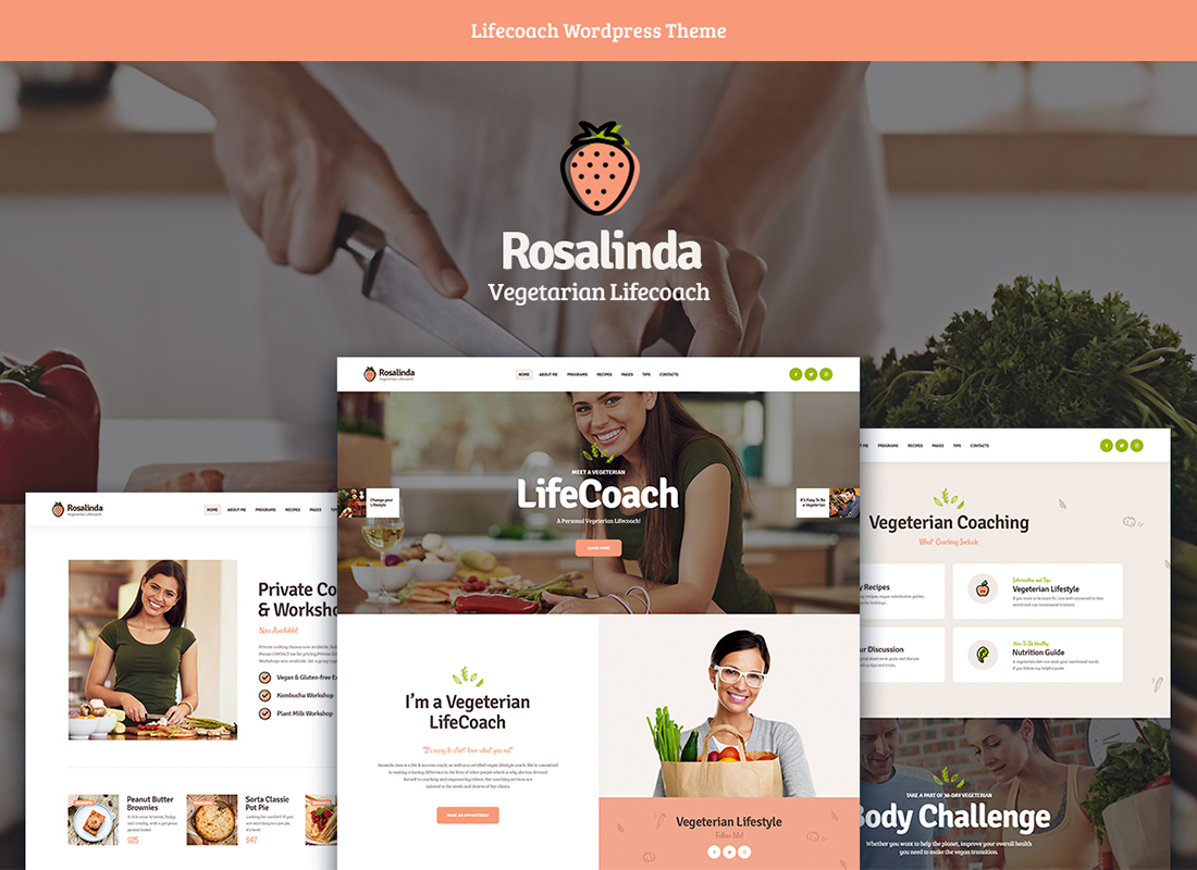 Rosalinda | Health Coach & Vegetarian Lifestyle Blog WordPress Theme