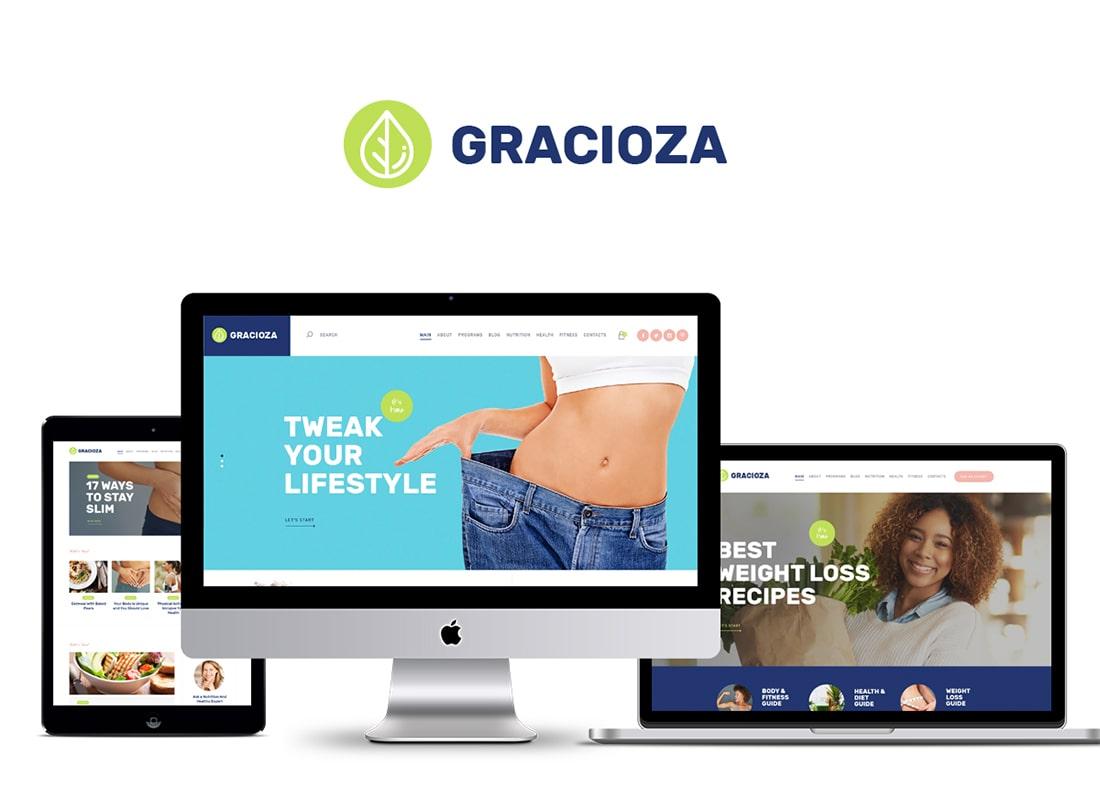 Gracioza | Weight Loss Company & Healthy Blog WordPress Theme