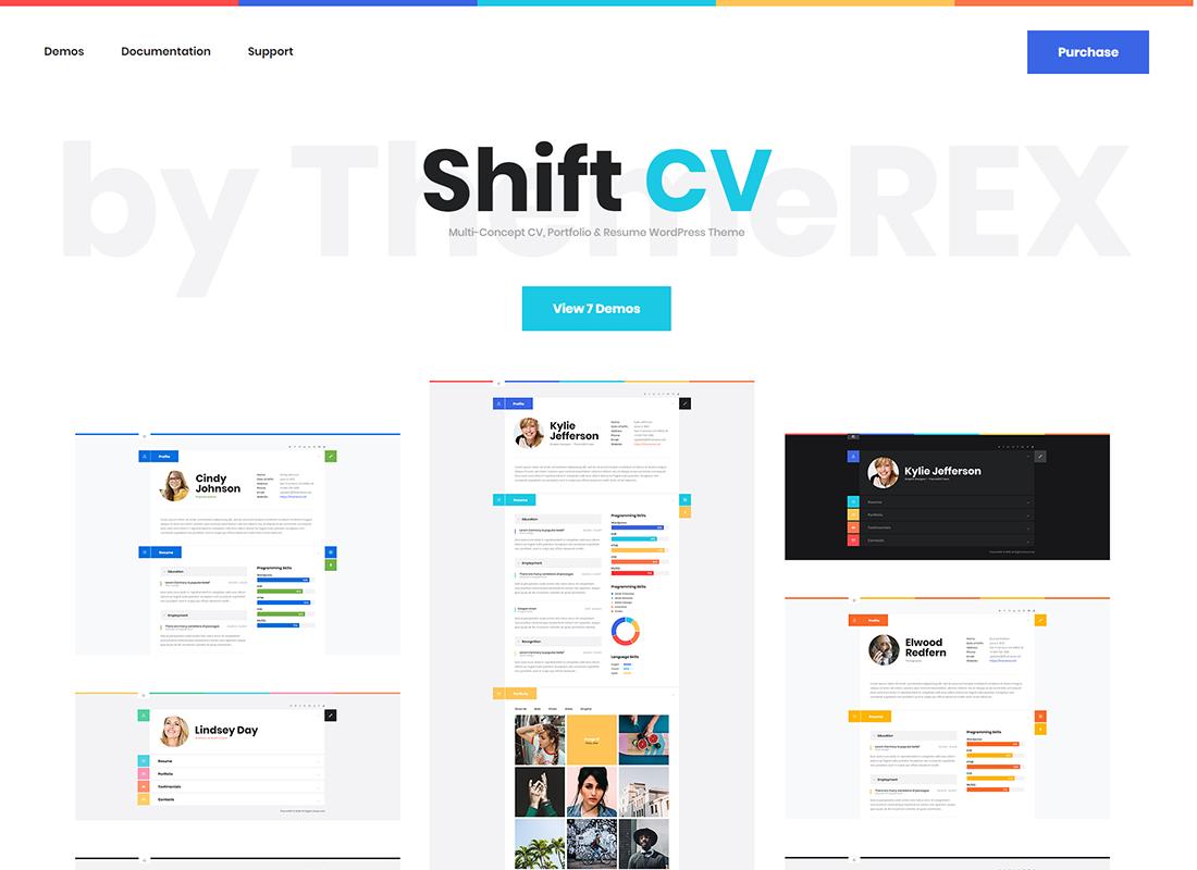 ShiftCV - Blog  Resume  Portfolio  WordPress