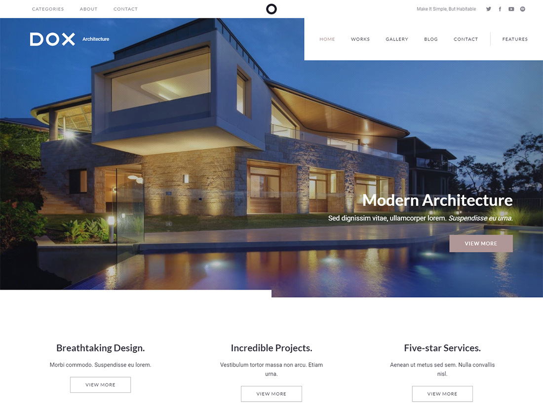 Dox accessible WordPress theme