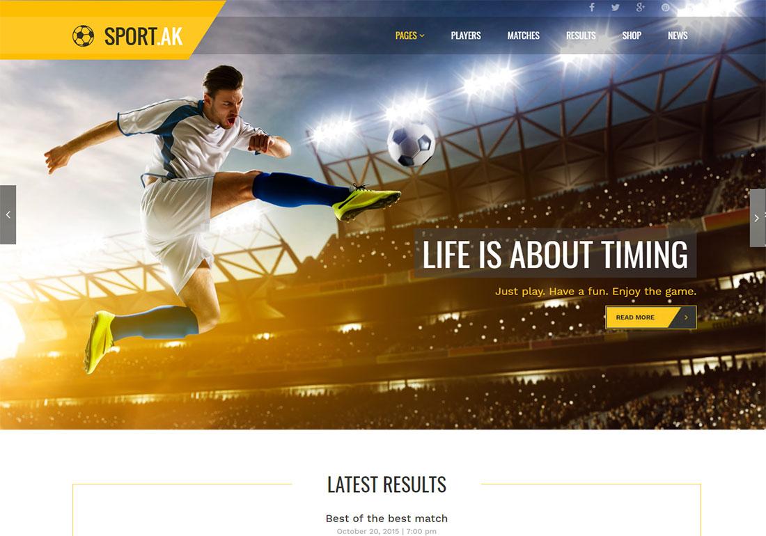 SportAK baseball WordPress theme