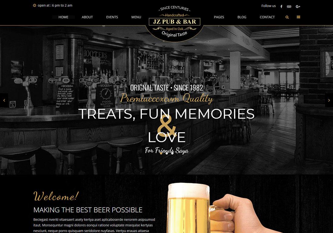 Jz Pub Bar - WordPress