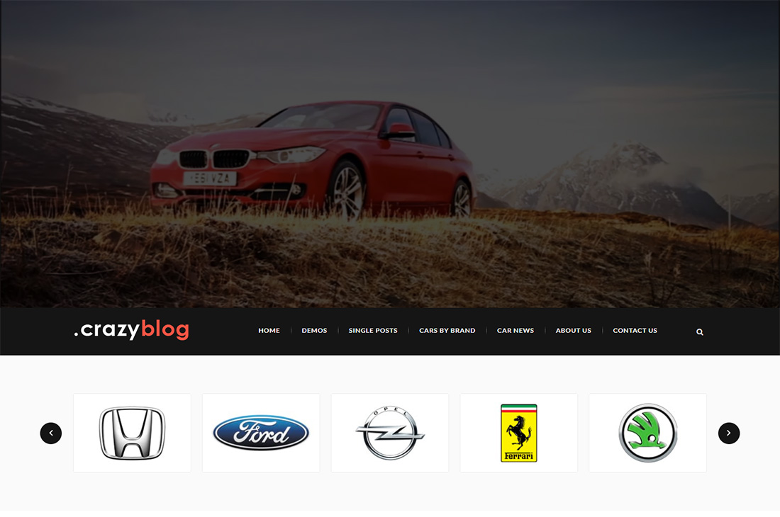 crazyblog cars magazine wordpress themes