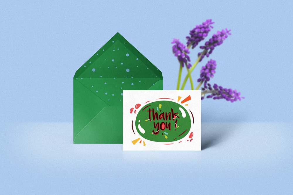 greeting card mockup