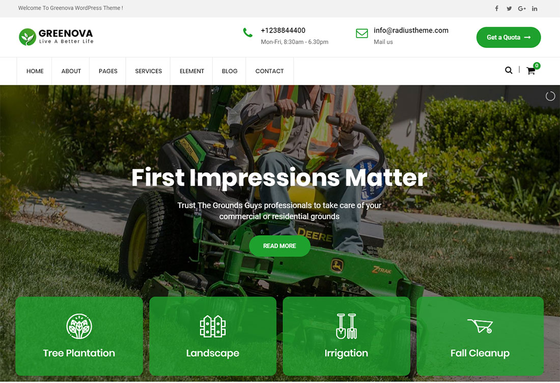 GreenovaLandscaping Website Template
