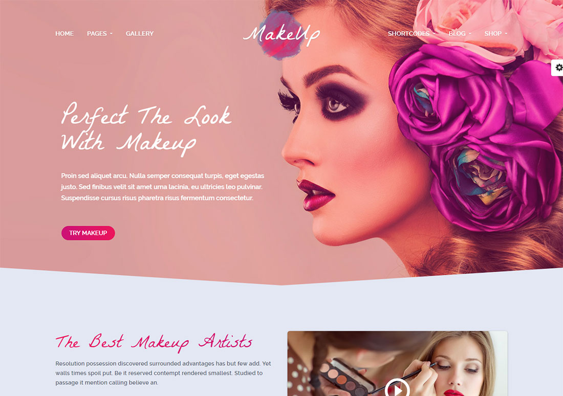 makeup makeup artist wordpress theme