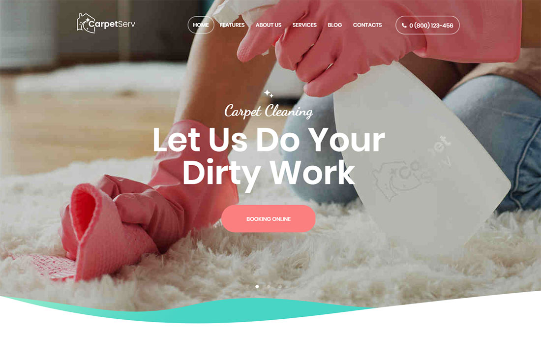 CarpetServ Pest Control WordPress Theme