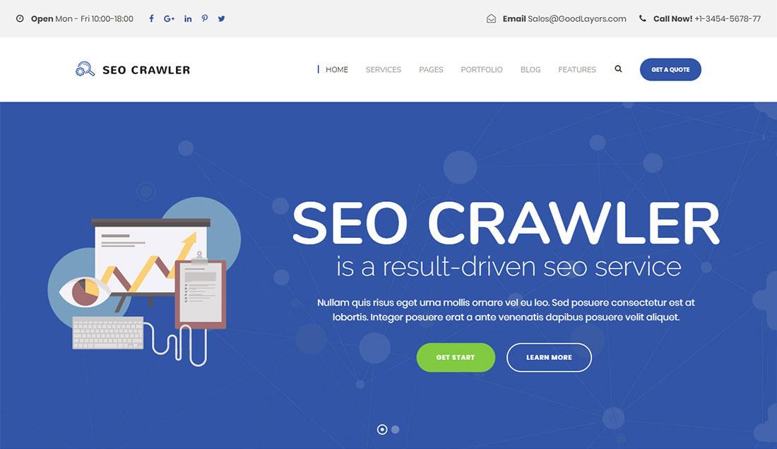SEO Crawler seo agency WordPress theme