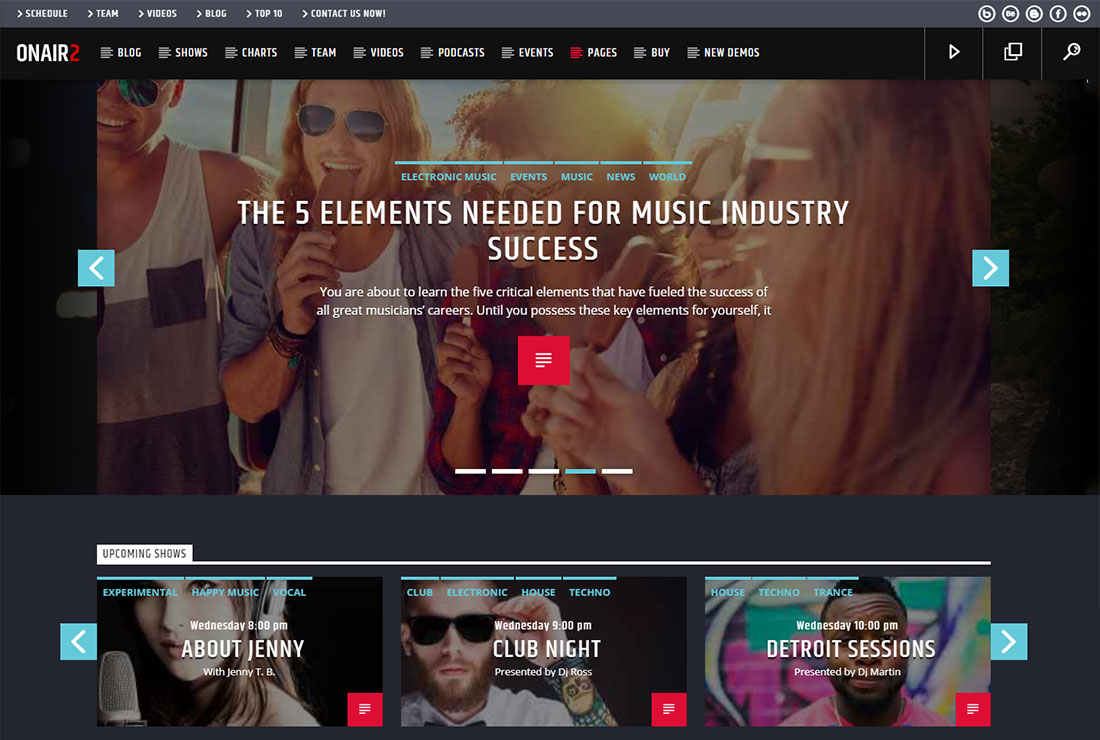 Onair2 WordPress Live Streaming Theme
