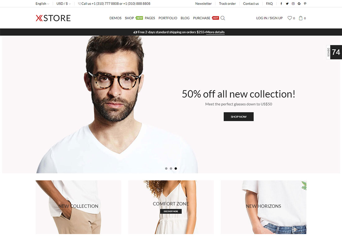 x store mobile friendly ecommerce theme