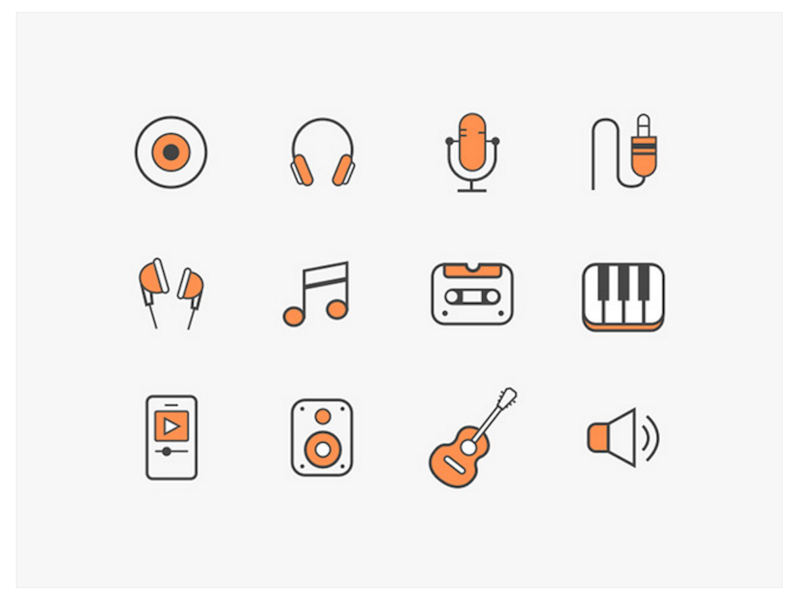 12 Free Music Icons