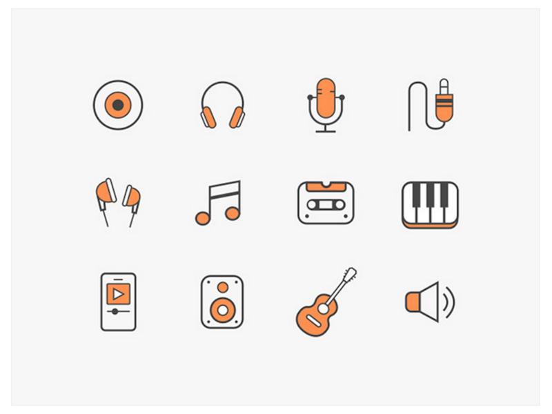 12 Free Music Icons