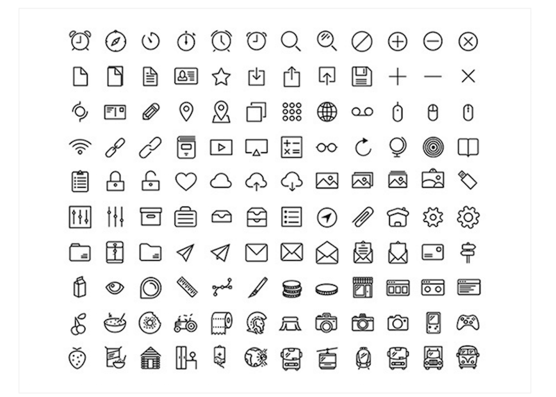 Top 32 adobe illustrator icon sets in 2018 colorlib for Free resume icons