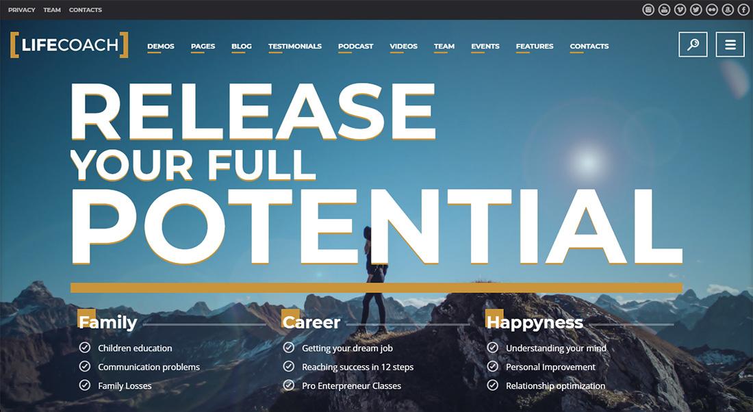 Life Coach accessible WordPress theme