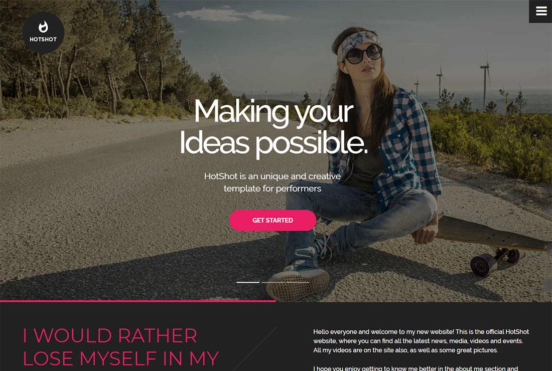 HotShot Actor Website Template