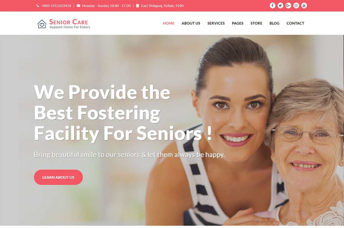 senior care elderly care wordpress themes