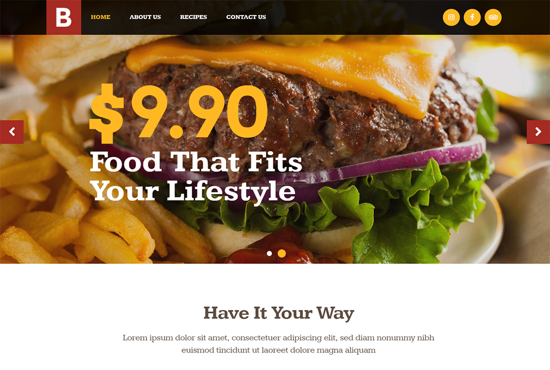 Bridge Food Truck WordPress Theme