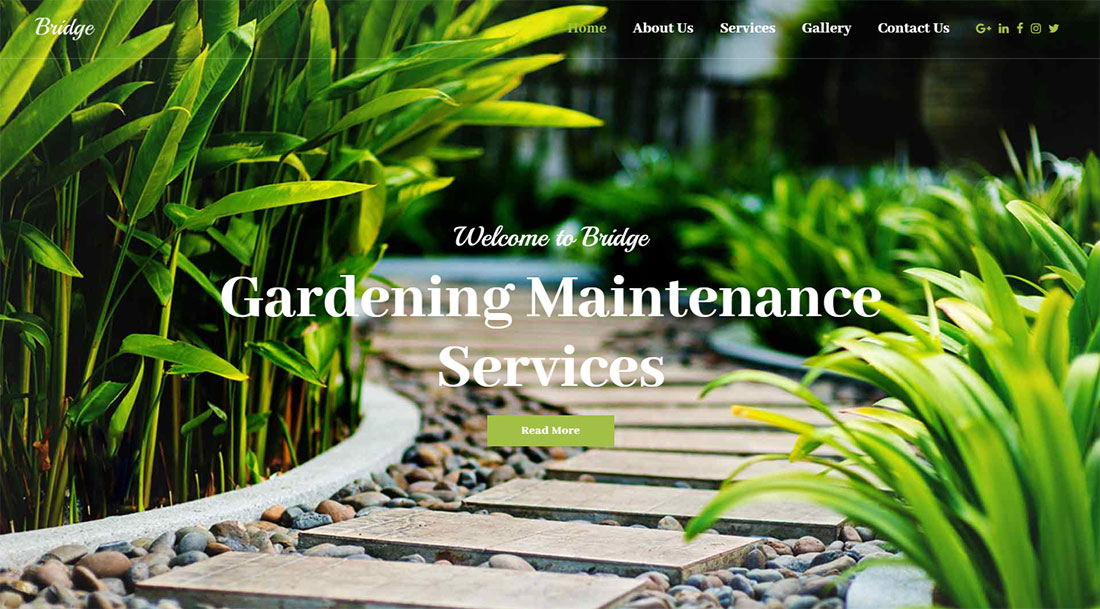 Bridge Landscaping Website Template