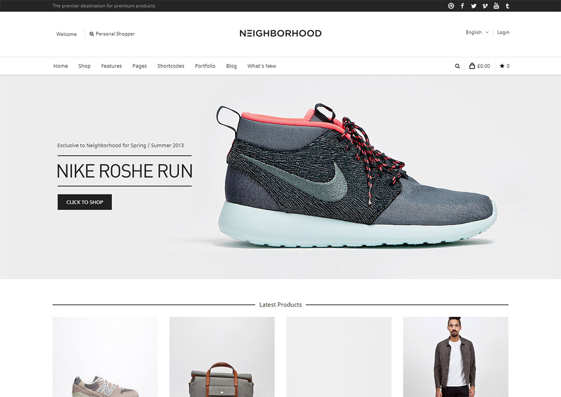 neighborhood mobile friendly ecommerce theme
