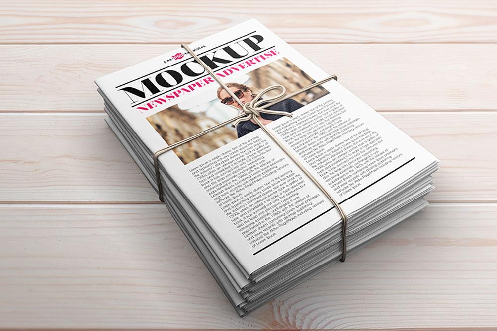 22 Newspaper Mockups For Entrepreneurs and Editors 2019 - Colorlib