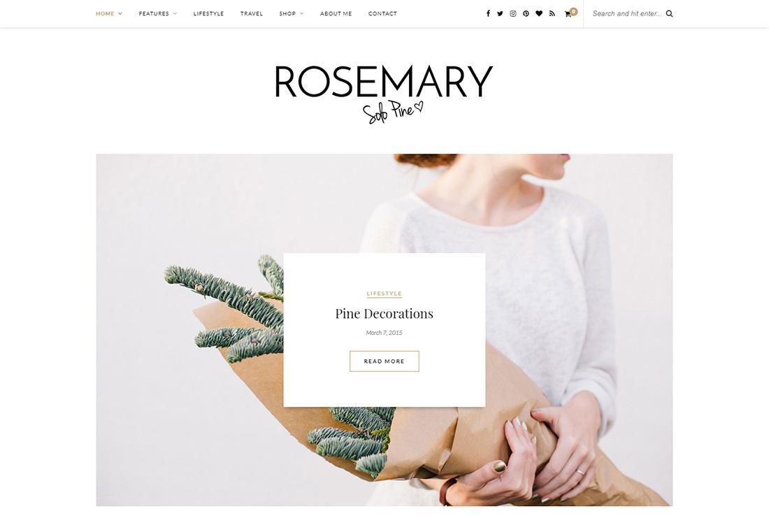 Rosemary Personal Branding WordPress Theme